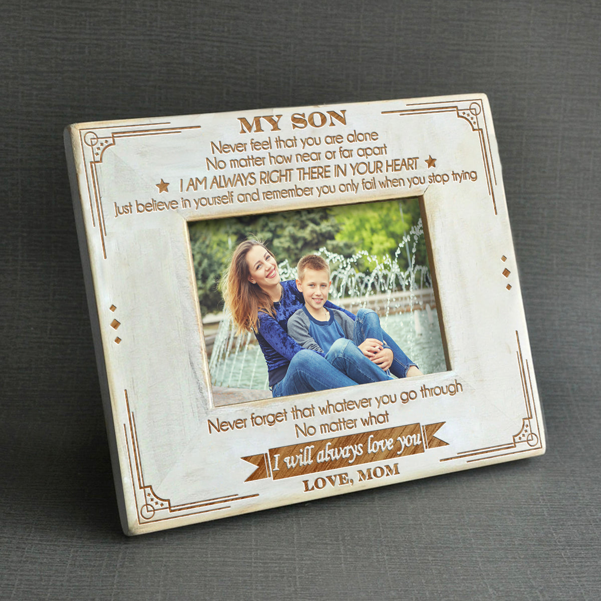 Mom To Son I Will Always Love You Wood Frame Quartzily
