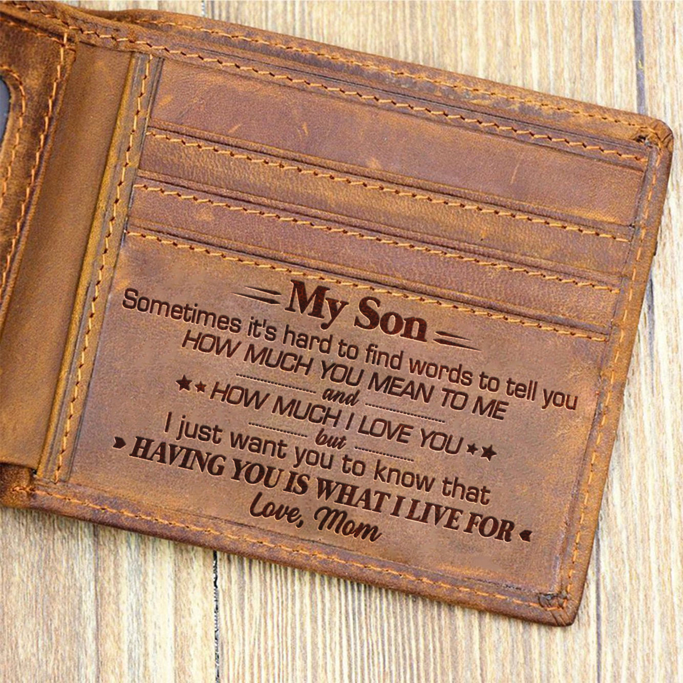 Mom To Son - Having You Is What I Live For - Bifold Wallet