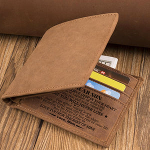 Mom To Son - You Will Never Lose - Bifold Wallet