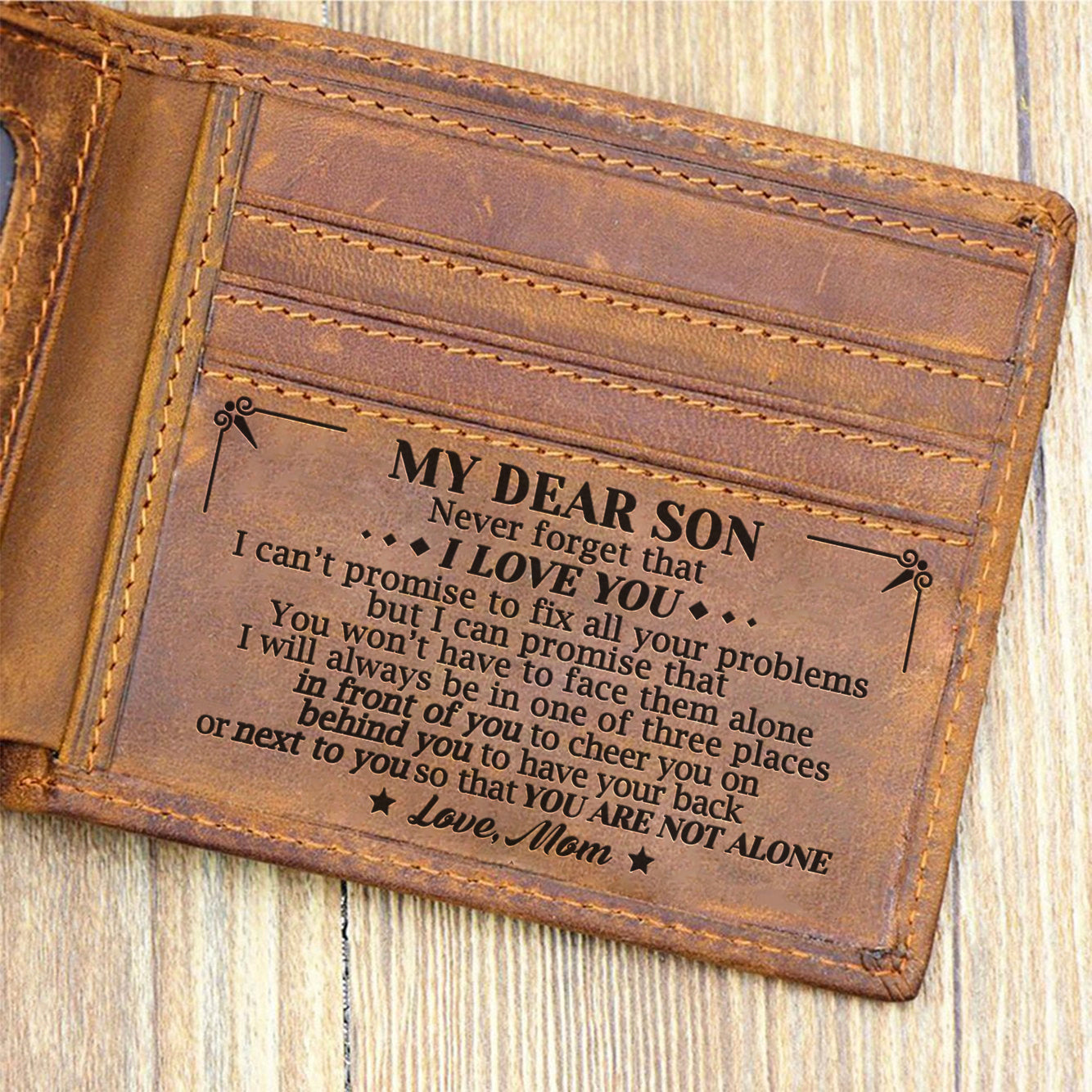 a69729a4253db Mom To Son - You Are Not Alone - Bifold Wallet – Quartzily