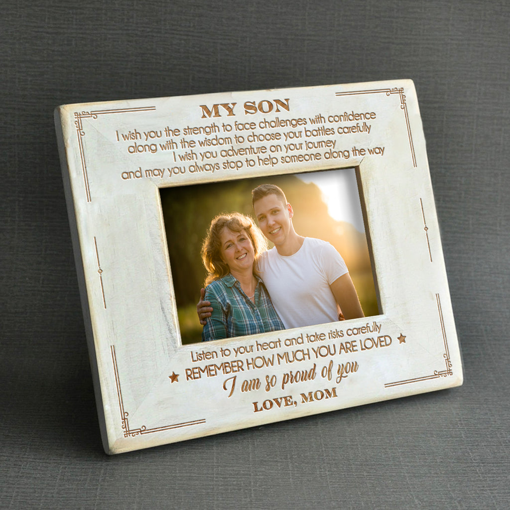 Mom To Son - I Am So Proud Of You - Wood Frame