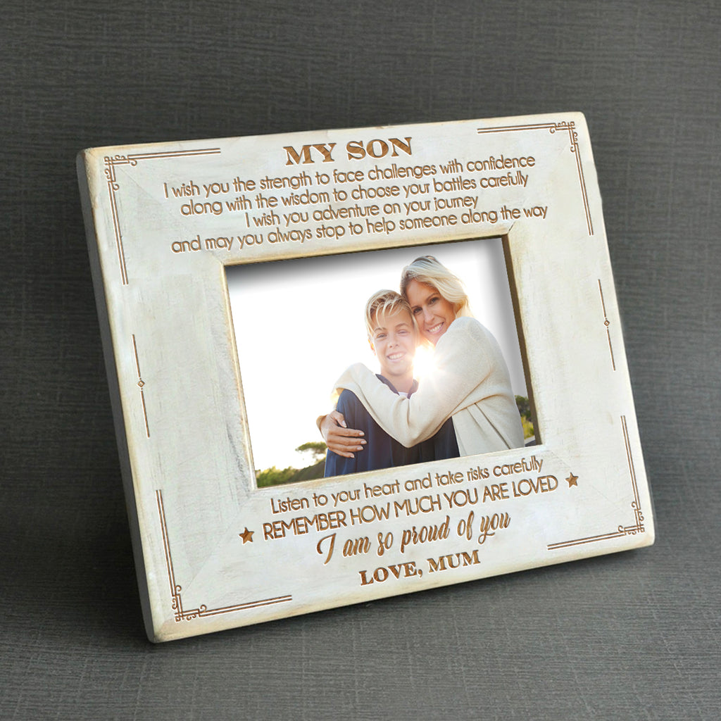 Mum To Son - I Am So Proud Of You - Wood Frame