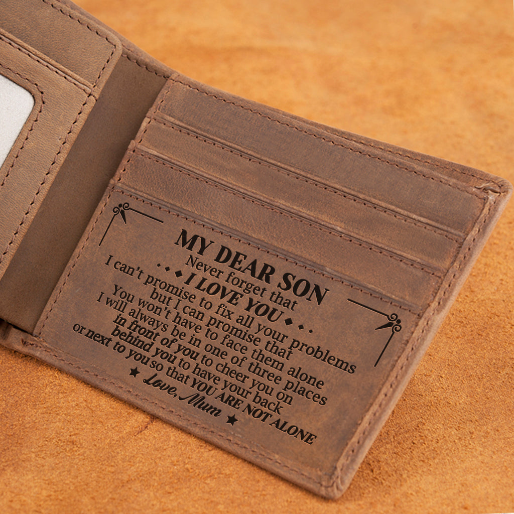 Mum To Son - You Are Not Alone - Bifold Wallet