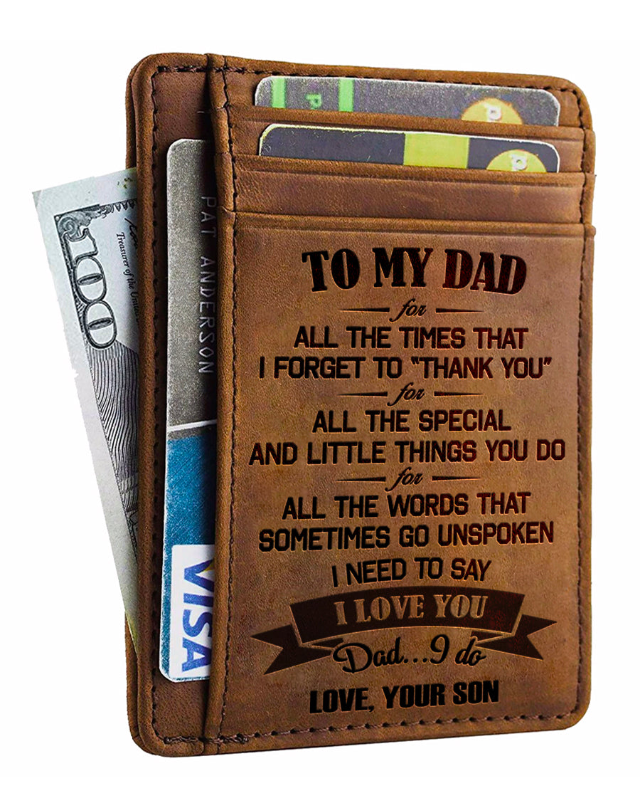 From Son To Dad - I Need To Say I Love You - Card Wallet