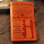 Grandson to Grandma - You Will Always Be My Loving Grandmother - Vintage Journal