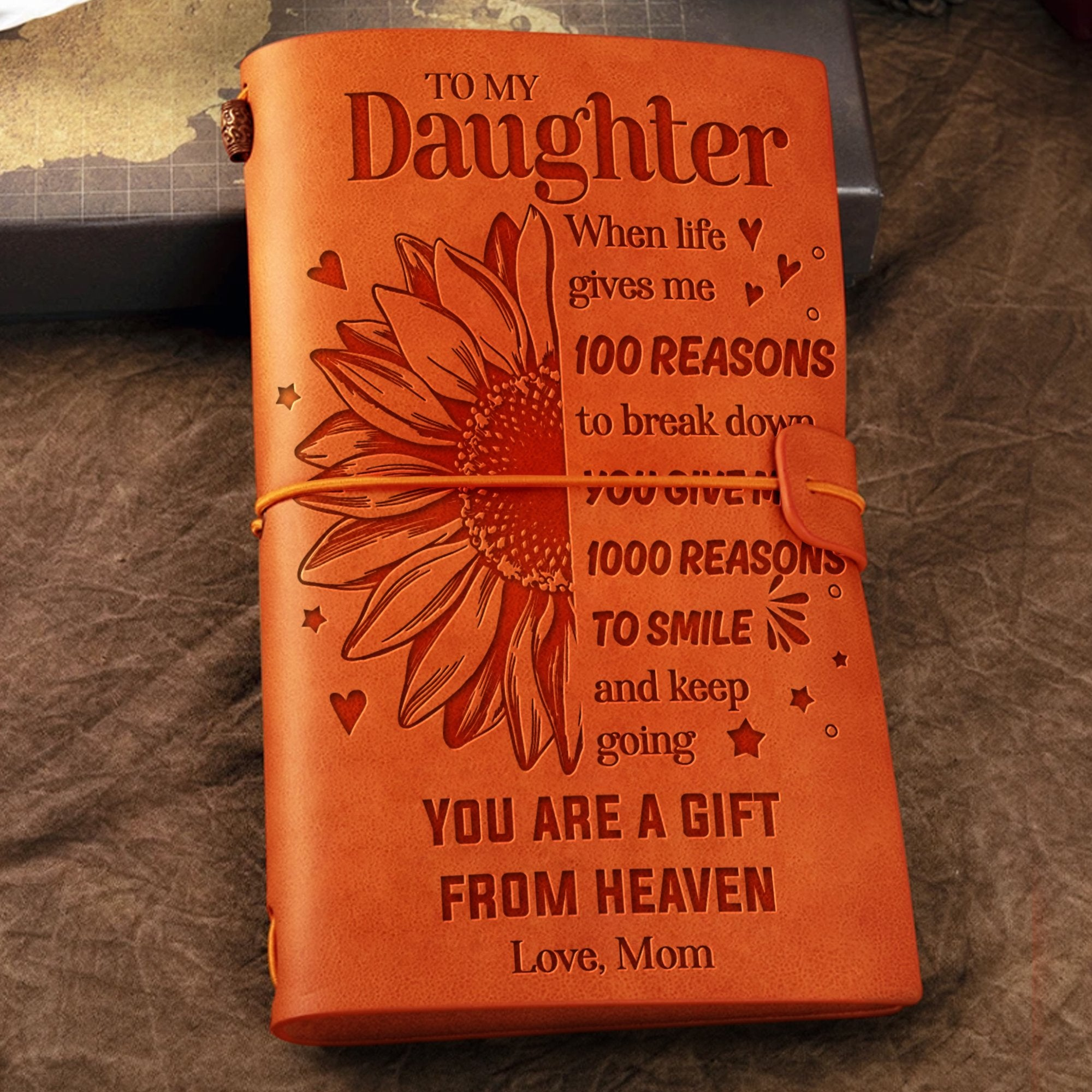 Mom To Dau - You Are A Gift From Heaven - Vintage Journal