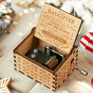 Dad to Daughter  - BELIEVE IN YOURSELF - Engraved Music Box