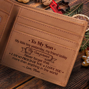 Mom To Son - I Love You More Than Anything In The World - Bifold Wallet
