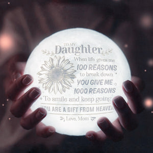 Mom To Daughter - You Are A Gift From Heaven - Moon Lamp