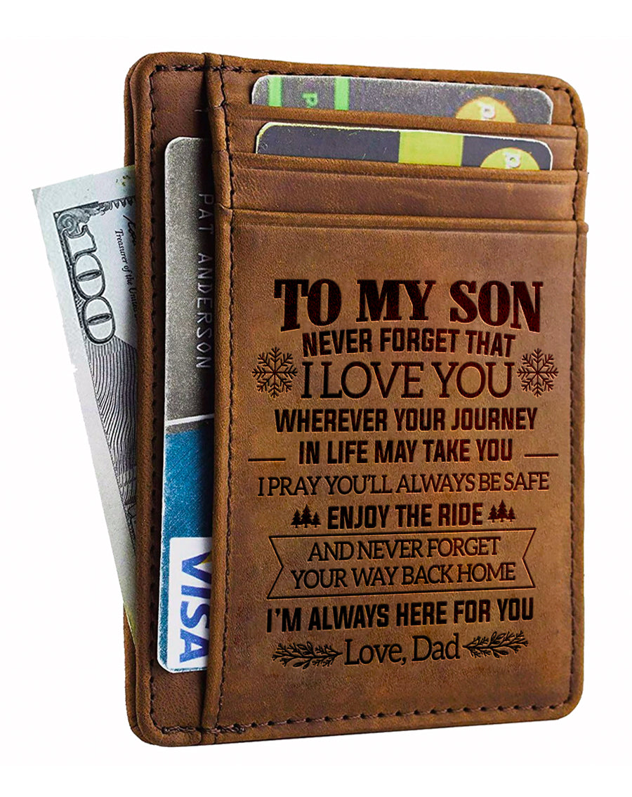 Dad To Son - Never Forget That - Card Wallet