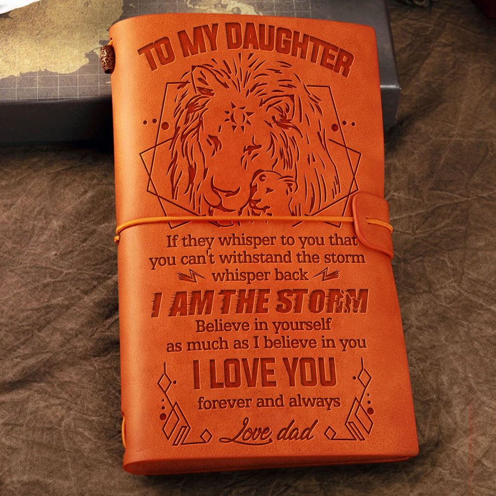 Dad To Daughter - I Love You Forever And Always - Vintage Journal