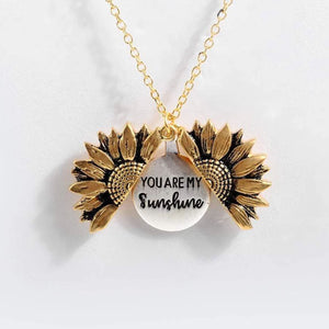 Mom To Daughter - You are My Sunshine - Sunflower Necklace