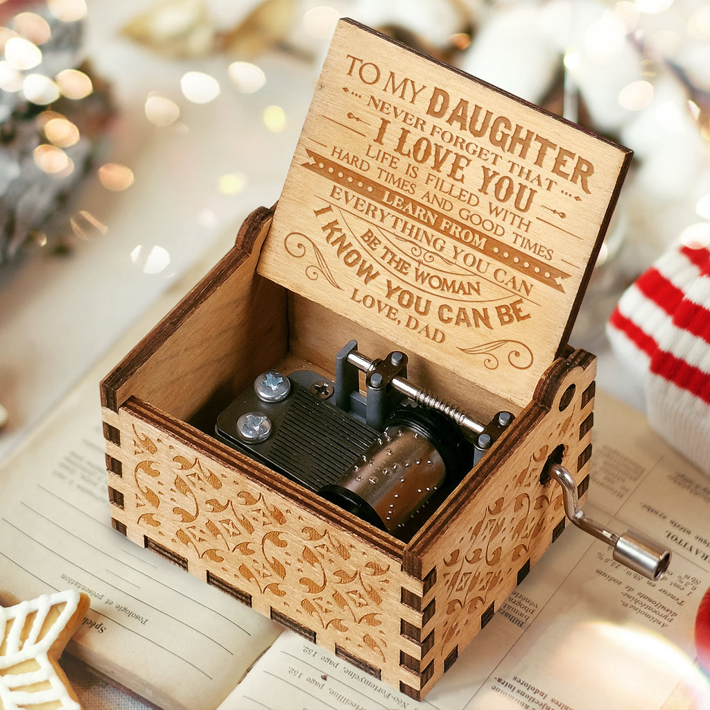 Express Delivery - Dad To Daughter - Never Forget That I Love You - Engraved Music Box