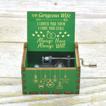 To My Wife - I Love You Still - Engraved Music Box