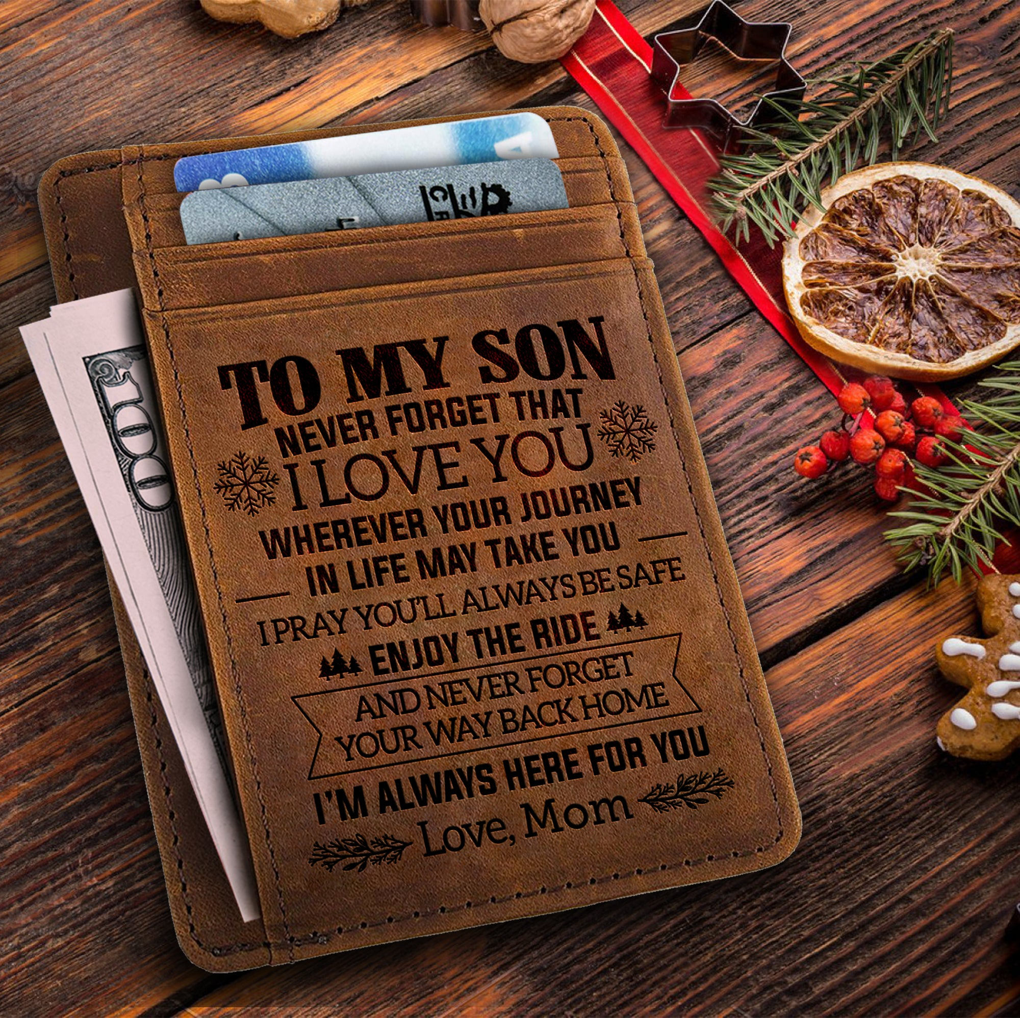 Mom To Son - Never Forget That - Card Wallet