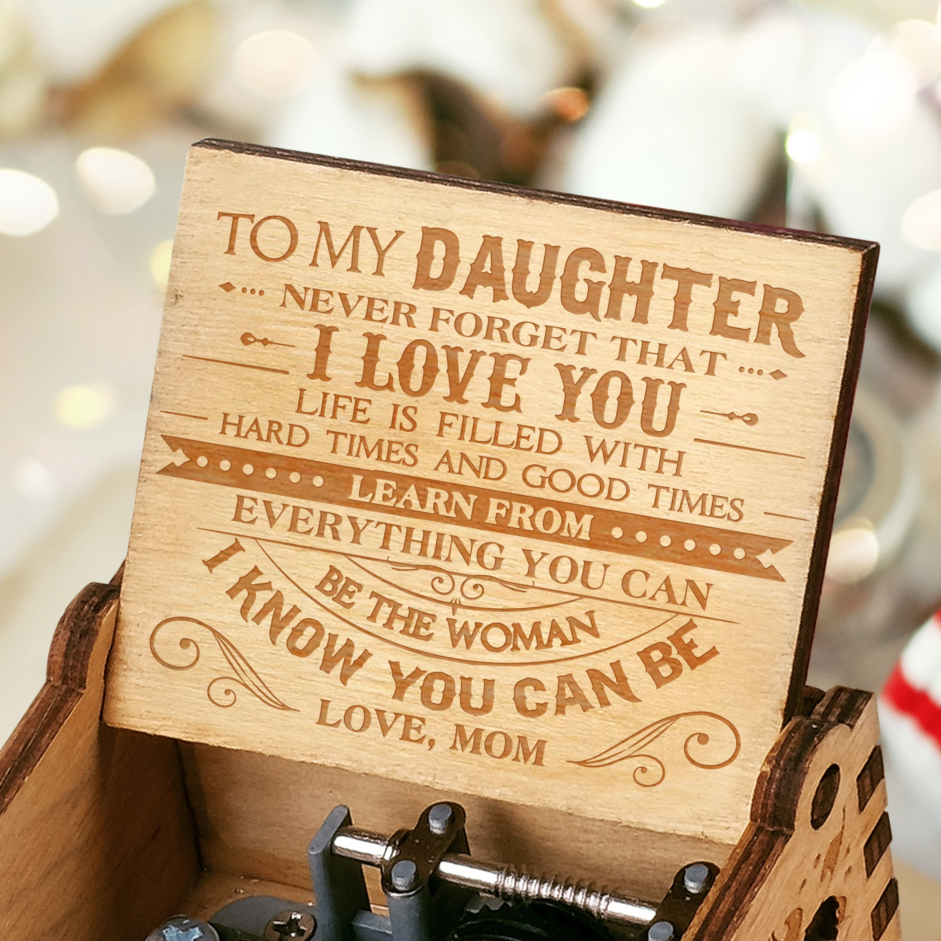 Express Delivery - Mom To Daughter - Hard Times And Good Times - Engraved Music Box