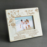 To My Daughter - I'll Always Be With You - Wood Frame