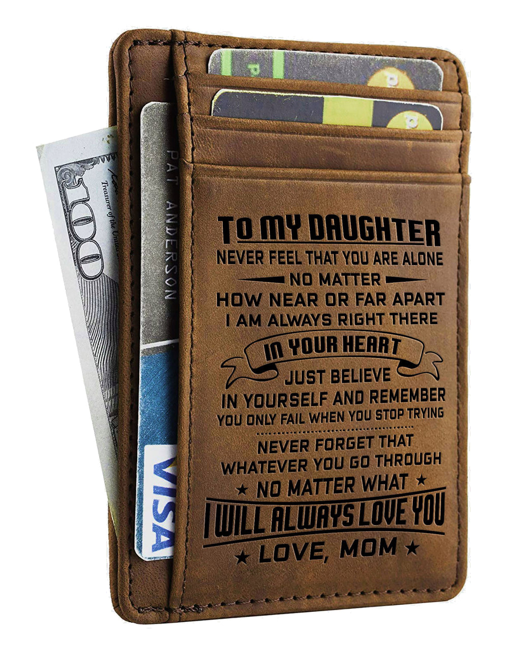 Card Wallet - Daughter, Mom Will Always Love You