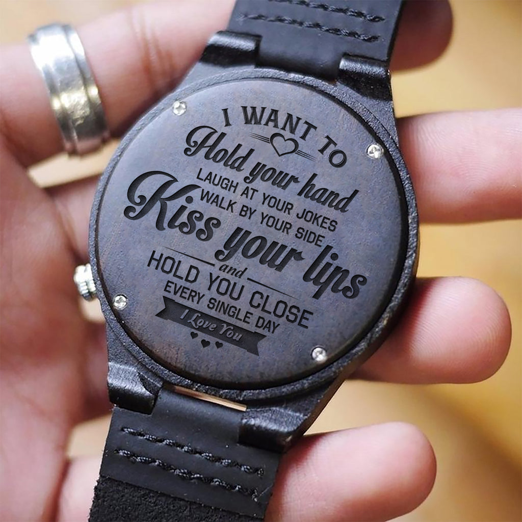 I Want To Hold Your Hand Wooden Watch