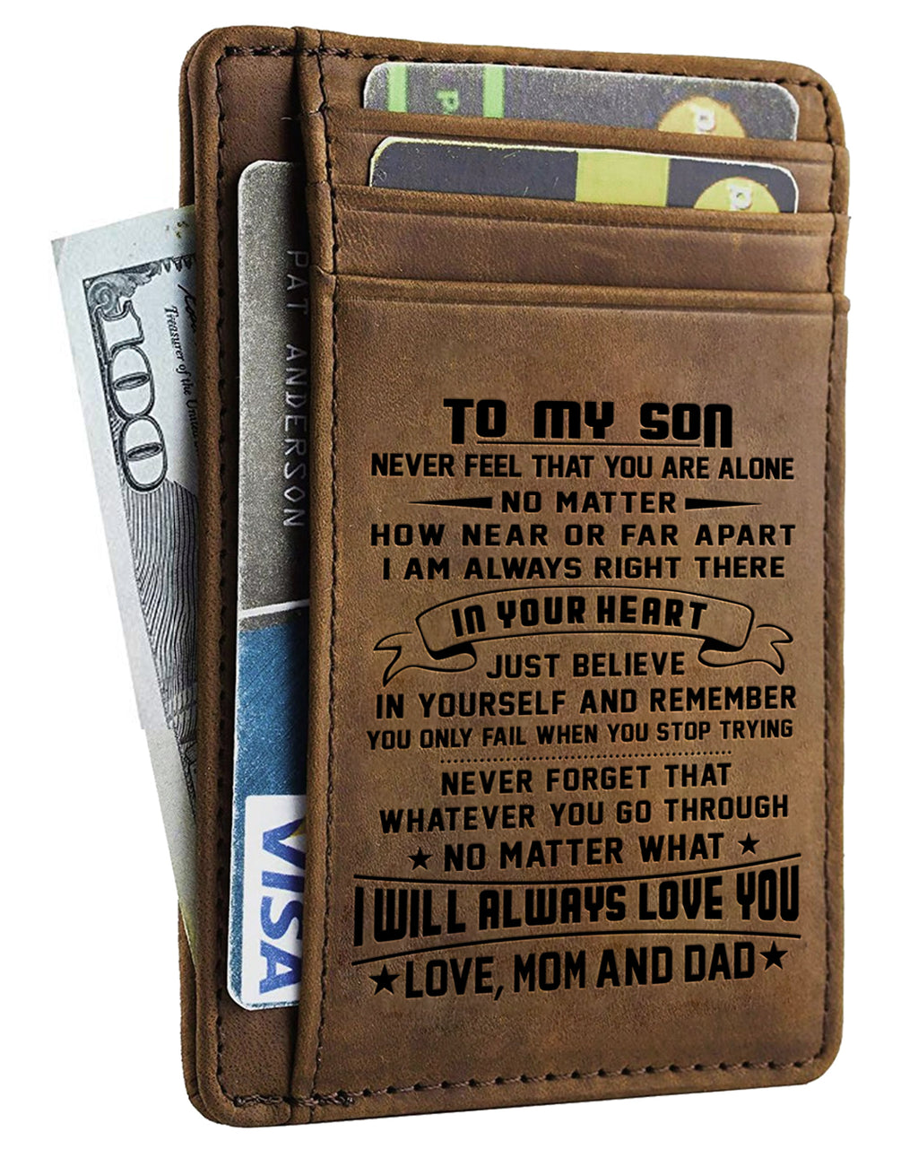 Card Wallet - Son, Mom And Dad Will Always Love You