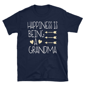 Happiness Is Being A Grandma - Short-Sleeve Unisex T-Shirt