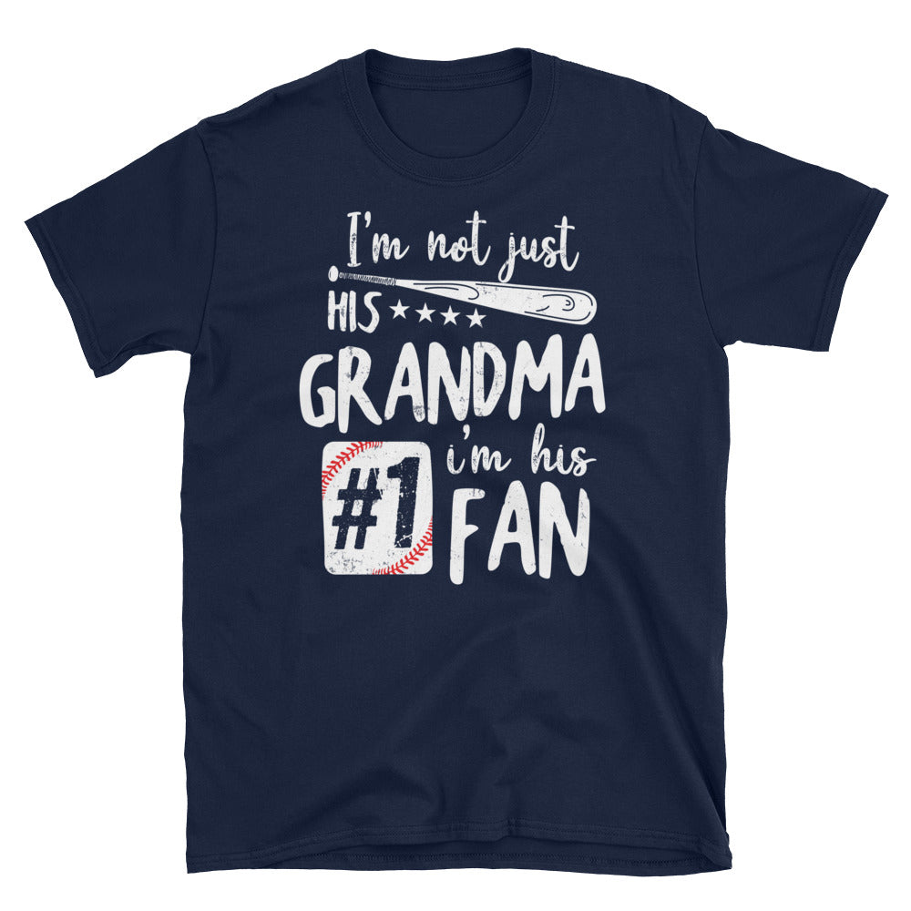 Grandma #1 Fan - Short-Sleeve Unisex T-Shirt