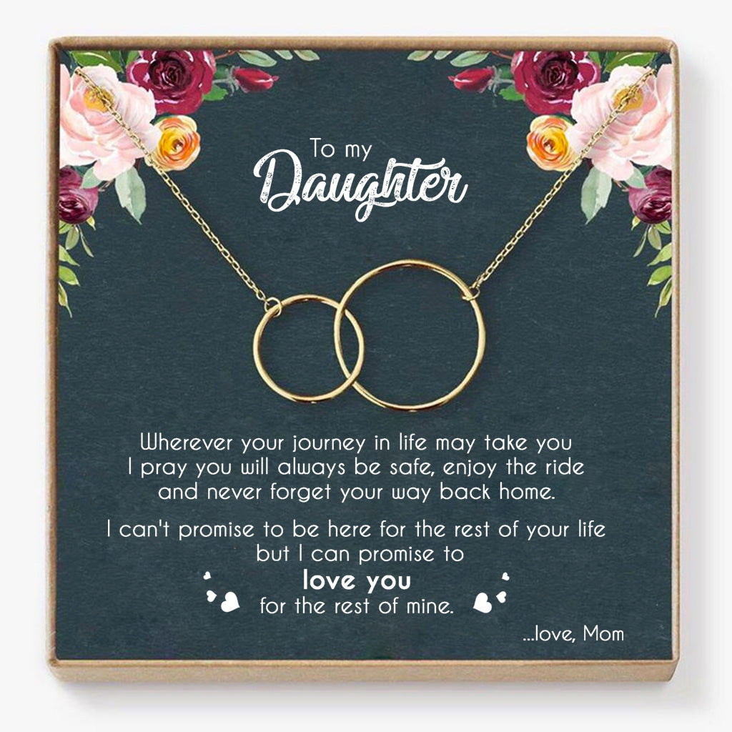 Mom To Daughter - Enjoy The Ride - Interlocking Necklace
