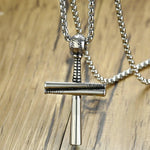 Stainless Steel Baseball Bat Necklace