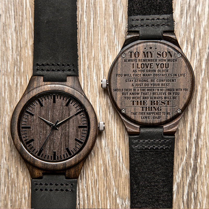 Dad & Son - Best Thing - Wooden Watch