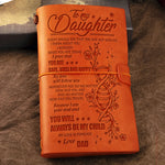 Dad To Daughter - My Love Will Follow You  - Vintage Journal