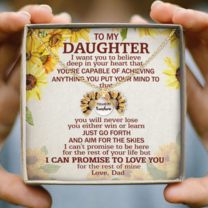 Dad To Daughter - You are My Sunshine - Sunflower Necklace