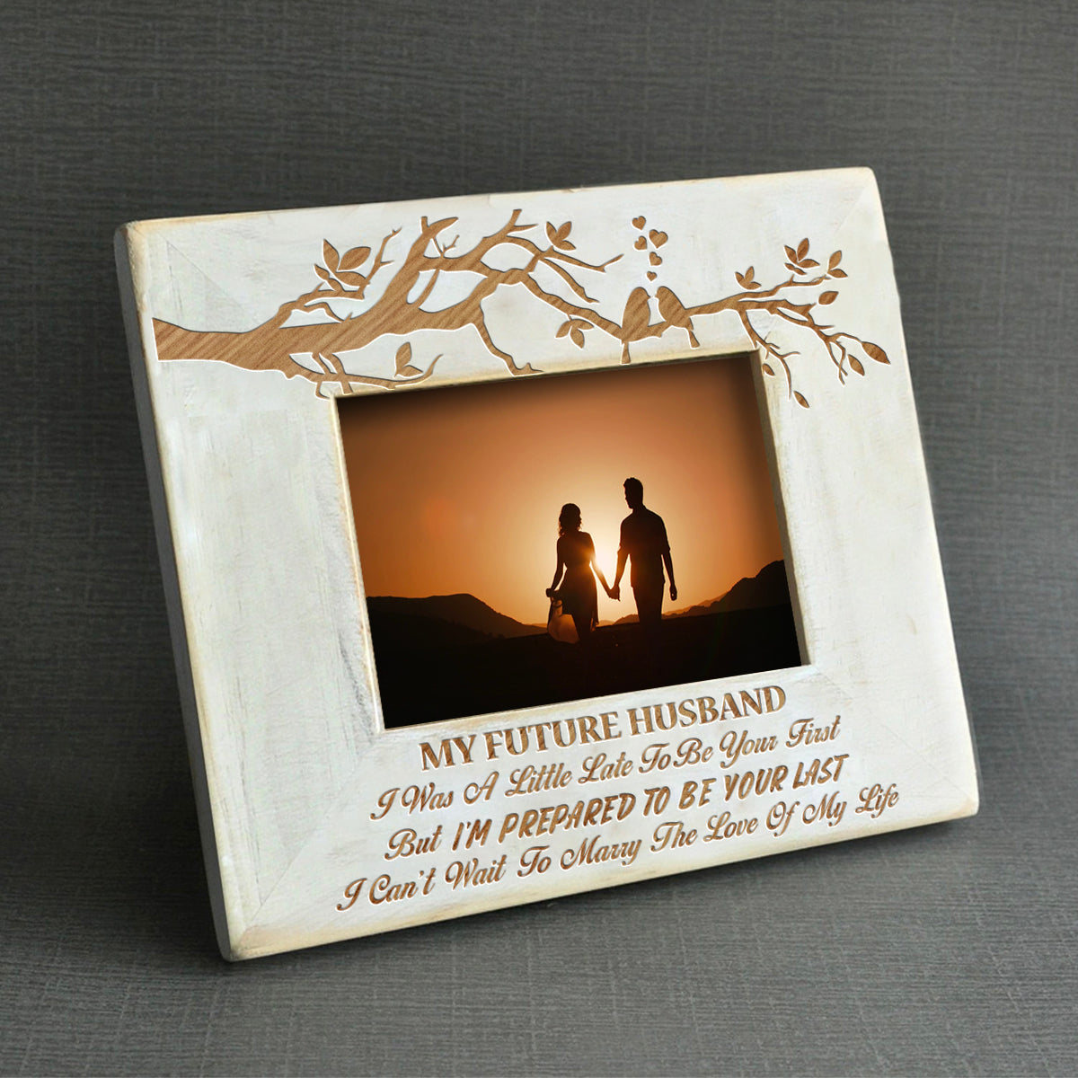 Express Delivery - To My Future Husband - I'm Prepared To Be Your Last- Wood Frame