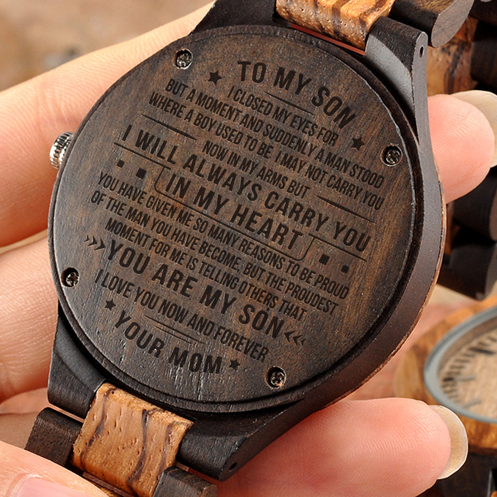 Mom To Son - You Are My Son - Wooden Watch