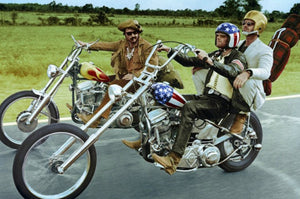 Easy Rider cast on motorcycles