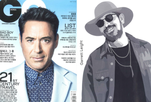 Garrett Leight sunglasses featured in GQ Korea