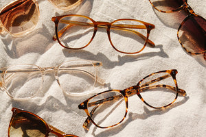 Garrett Leight California Optical Doreen eyeglasses and sunglasses
