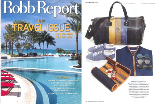 Garrett Leight sunglasses and clip on sunglasses featured in Robb Report