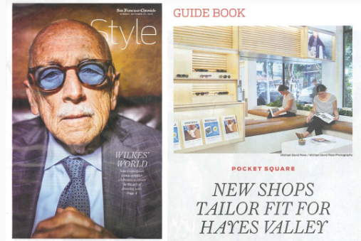 Garrett Leight San Francisco store location featured in SF Chronicle