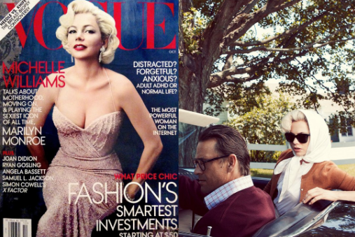 Michelle Williams wears Garrett Leight sunglasses in Vogue