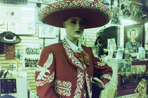 Mannequin in traditional mariachi outfit