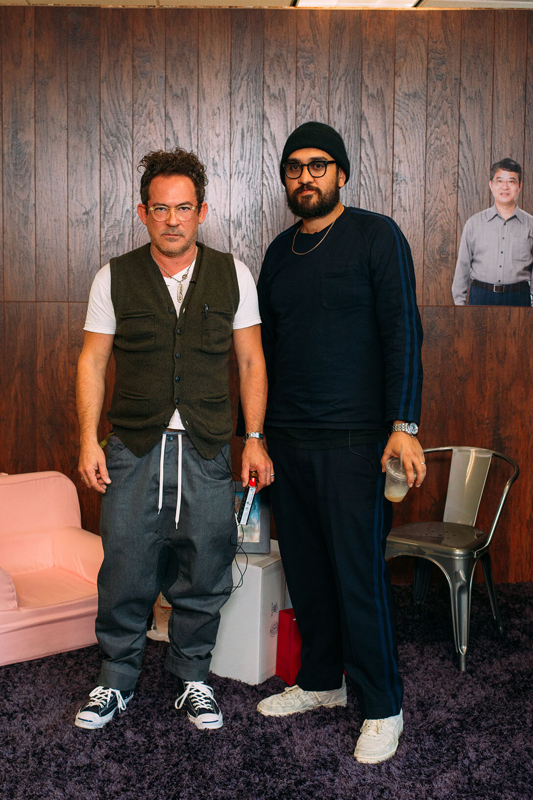 Garrett Leight and Mark McNairy pose for picture