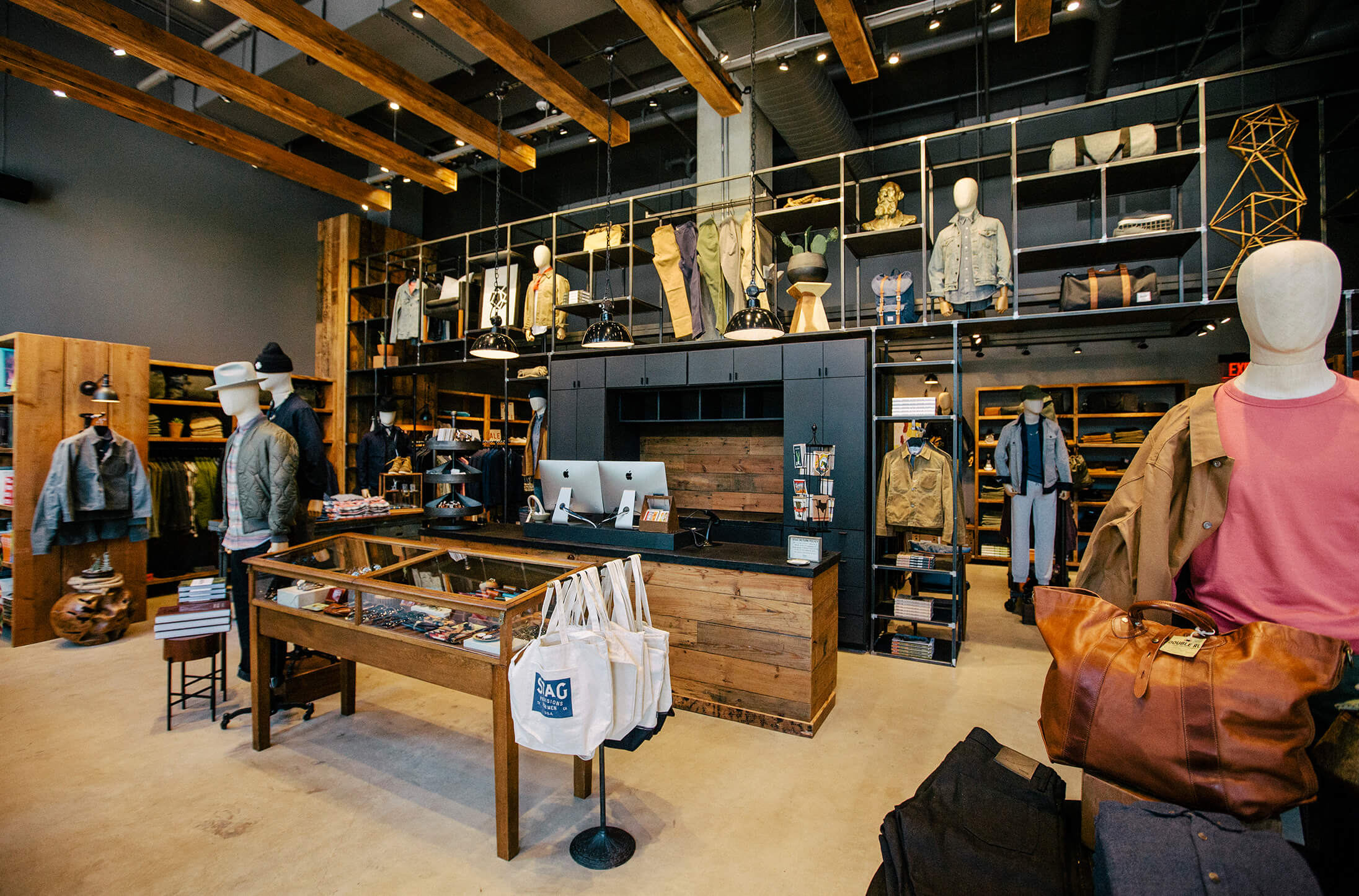 Interior of STAG retail store