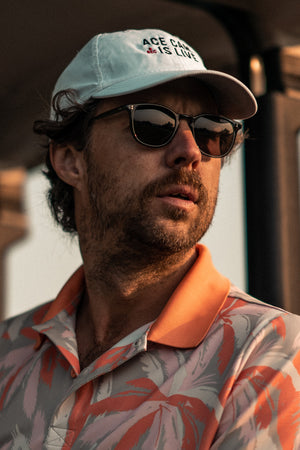 Erik Anders Lang wear GLCO Kinney sunglasses with Sport Utility Vision lenses on the golf course.
