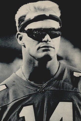 80s NFL fashion, the Boz wearing sunglasses