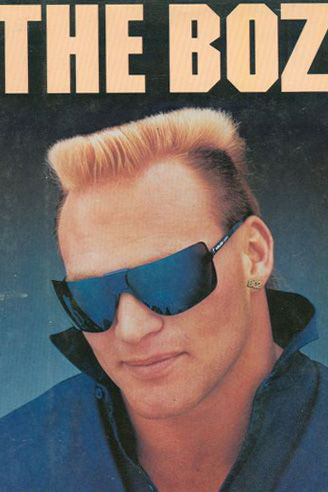 80s NFL player Brian Bosworth wearing sunglasses