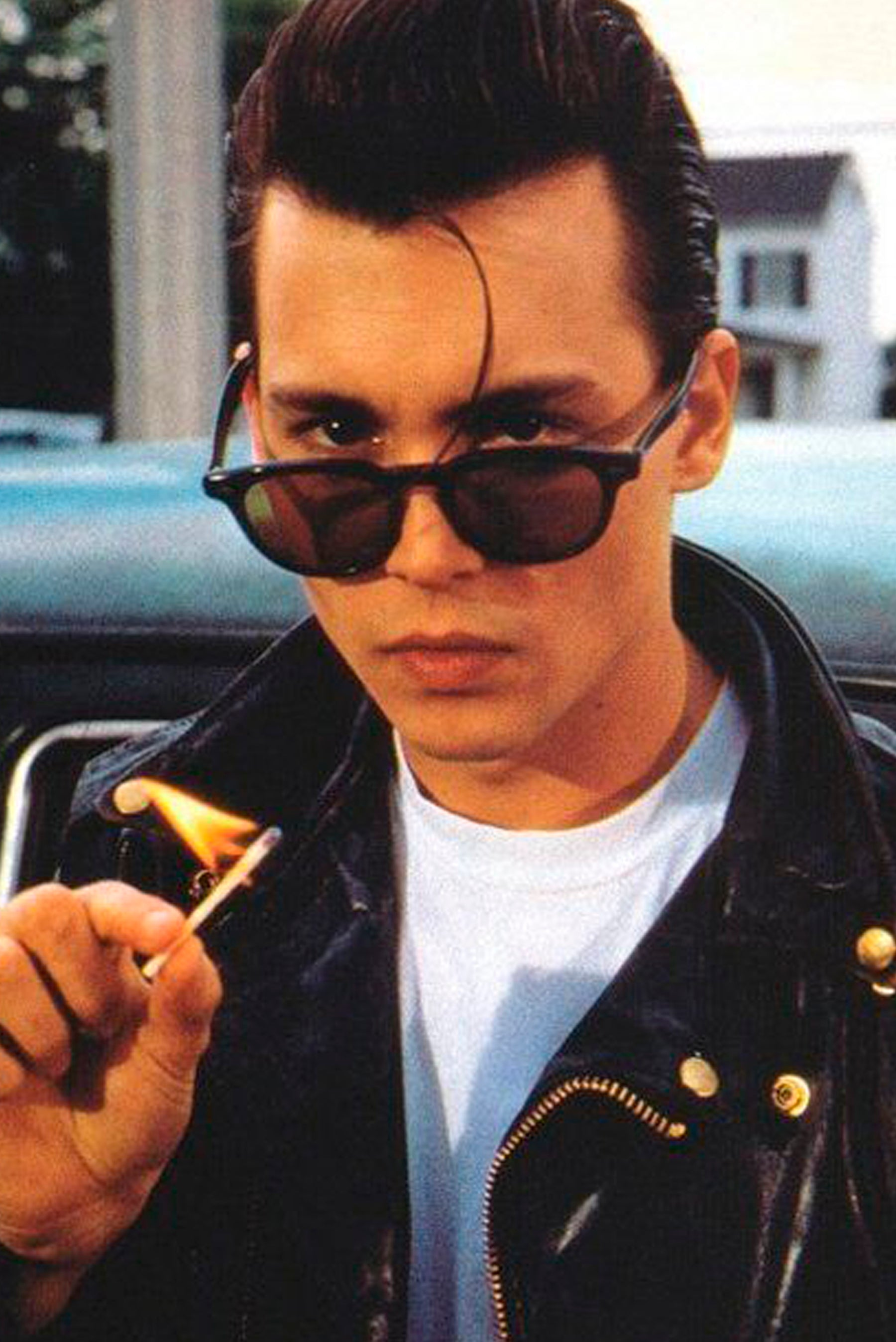 photo of Johnny Depp wearing sunglasses
