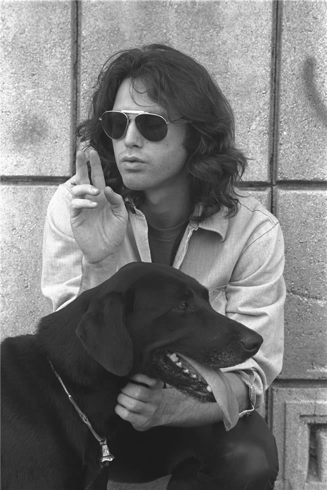 photo of Jim Morrison of The Doors rock and roll style