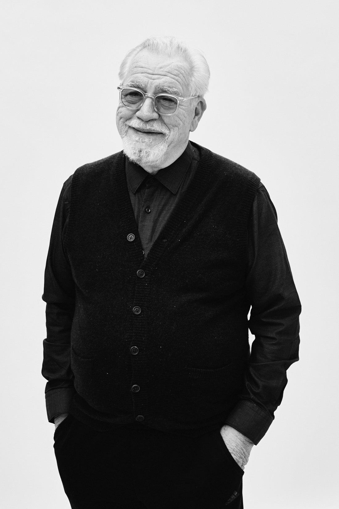 Succession's Brian Cox wears Mr. Leight Coopers sunglasses from Garrett Leight California Optical.