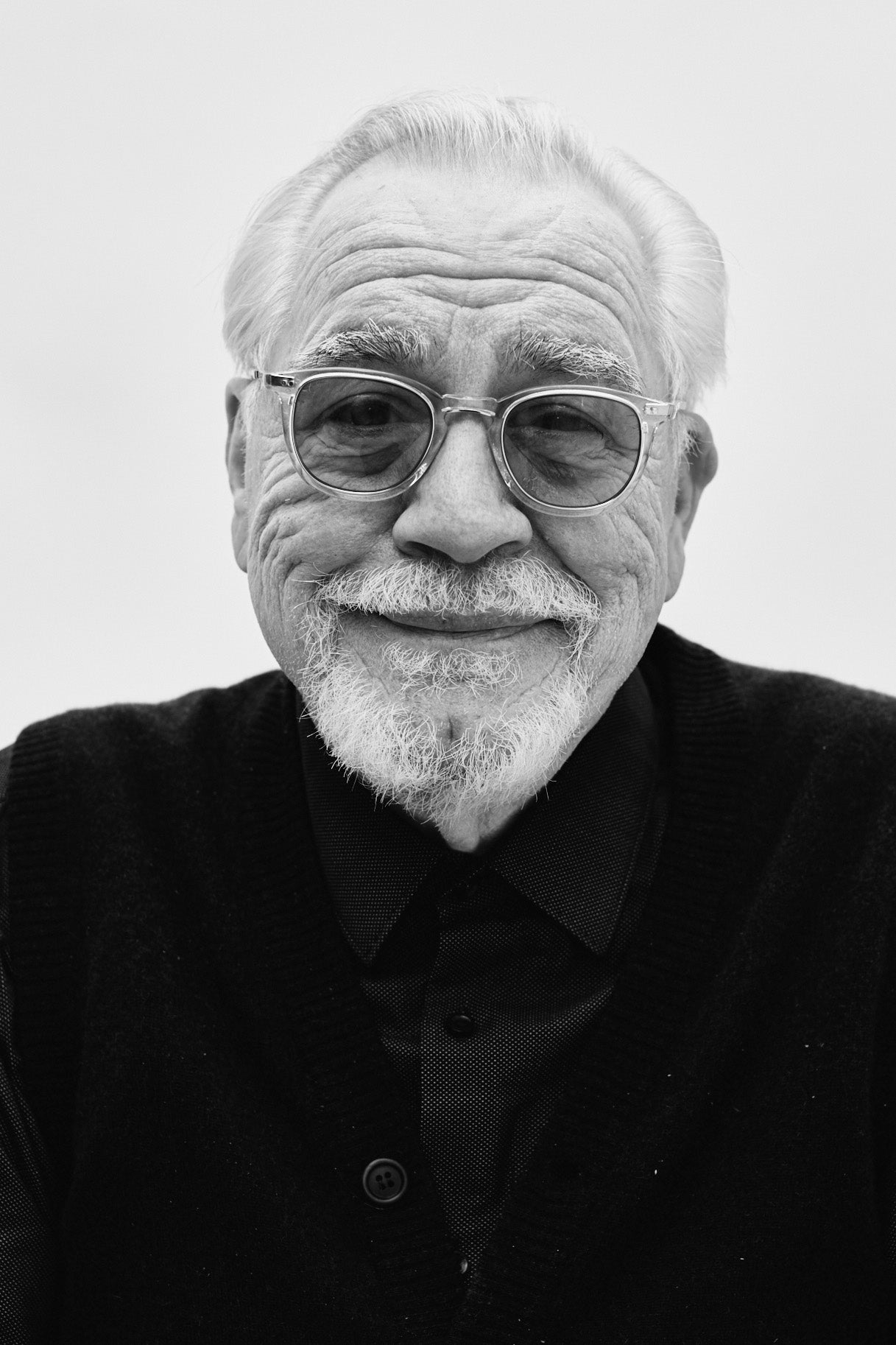 Succession's Brian Cox wears Mr. Leight Coopers glasses from Garrett Leight California Optical.
