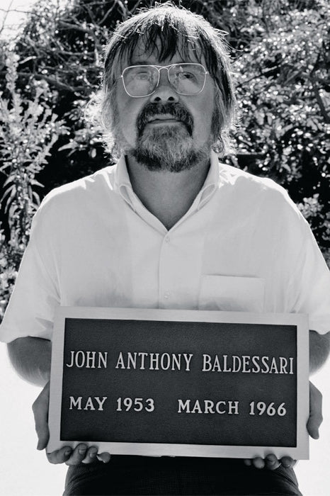 John Baldessari wearing glasses